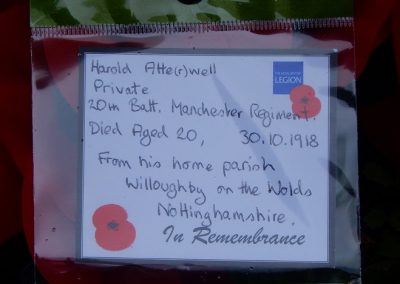 Harold Atterwell WW1 Remembrance