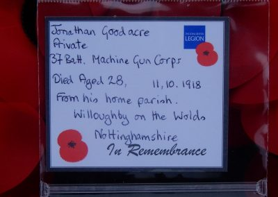 Jonathan Goodacre WW1 Remembrance