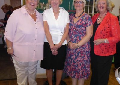 The 4 presidents at the Wolds Group meeting - Kinoulton, Colston Bassett, Willoughby & Hickling.